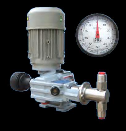 Pompa typu RCN 6A 70 TL Maksymalna wydajność 500ml/h Maksymalne ciśnienie 40 bar g 1% stopniowy zakres nastawy wydajności STD