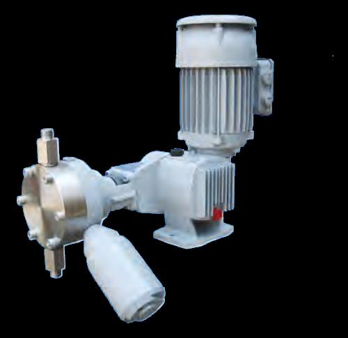 Pompa typu RB 16 MA 36 OM 5l/h @ 40 bar g mechanizm z powrotem tłoczyska za pomocą sprężyny